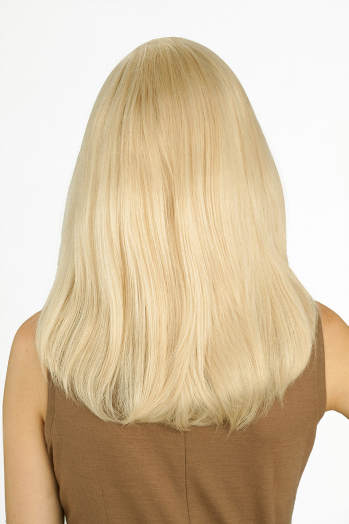 Louis Ferre PC106 Platinum Human Hair Wig back