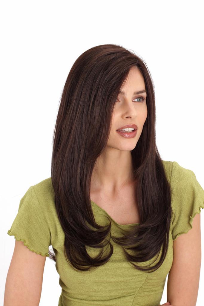 Louis Ferre Diamond  Monotop Human Hair Wig Side View
