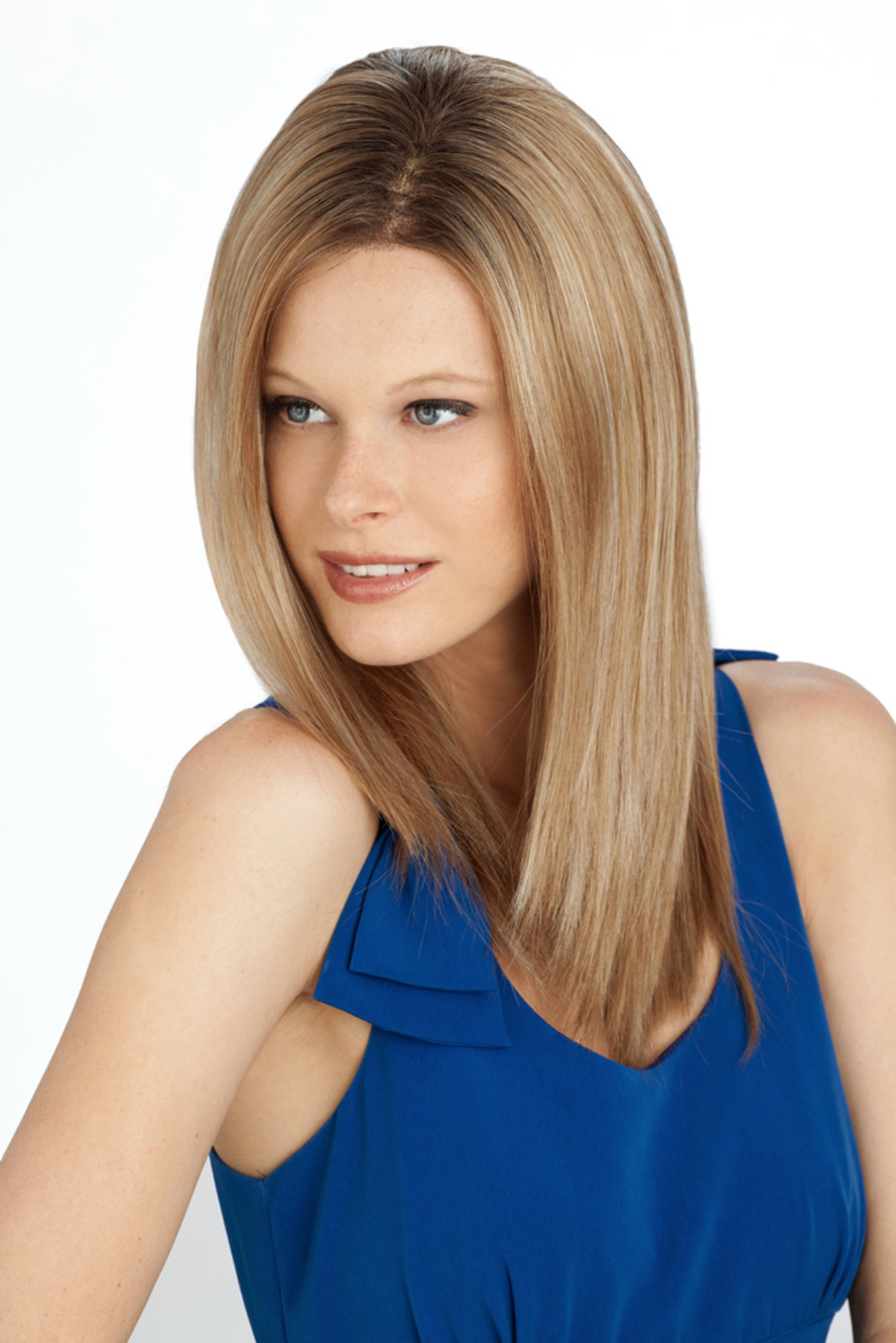 Louis Ferre Manhattan Soiree Monosystem Lace Front Wig Side View