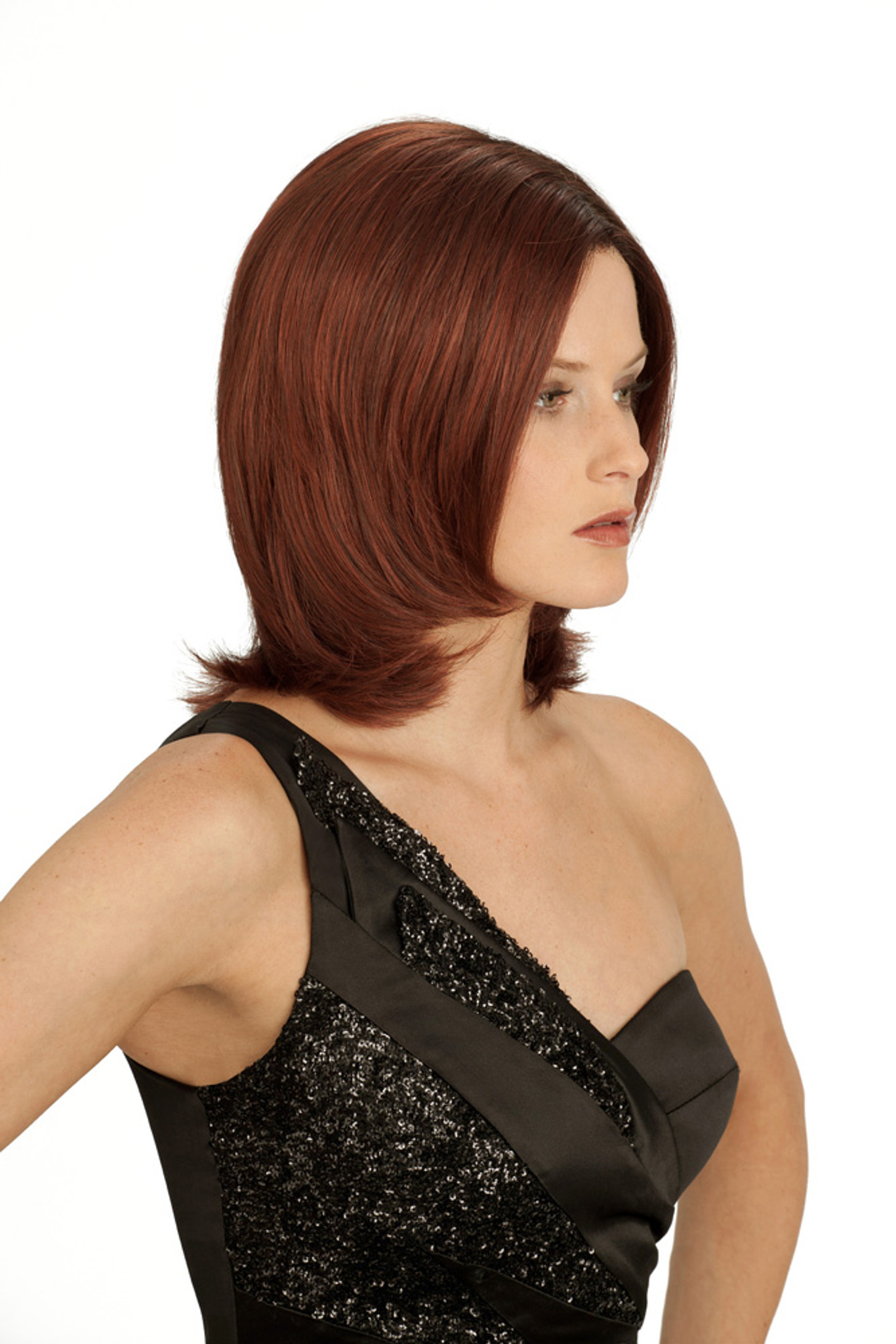 Louis Ferre Gramercy Rose Monosystem Lace Front Wig side view
