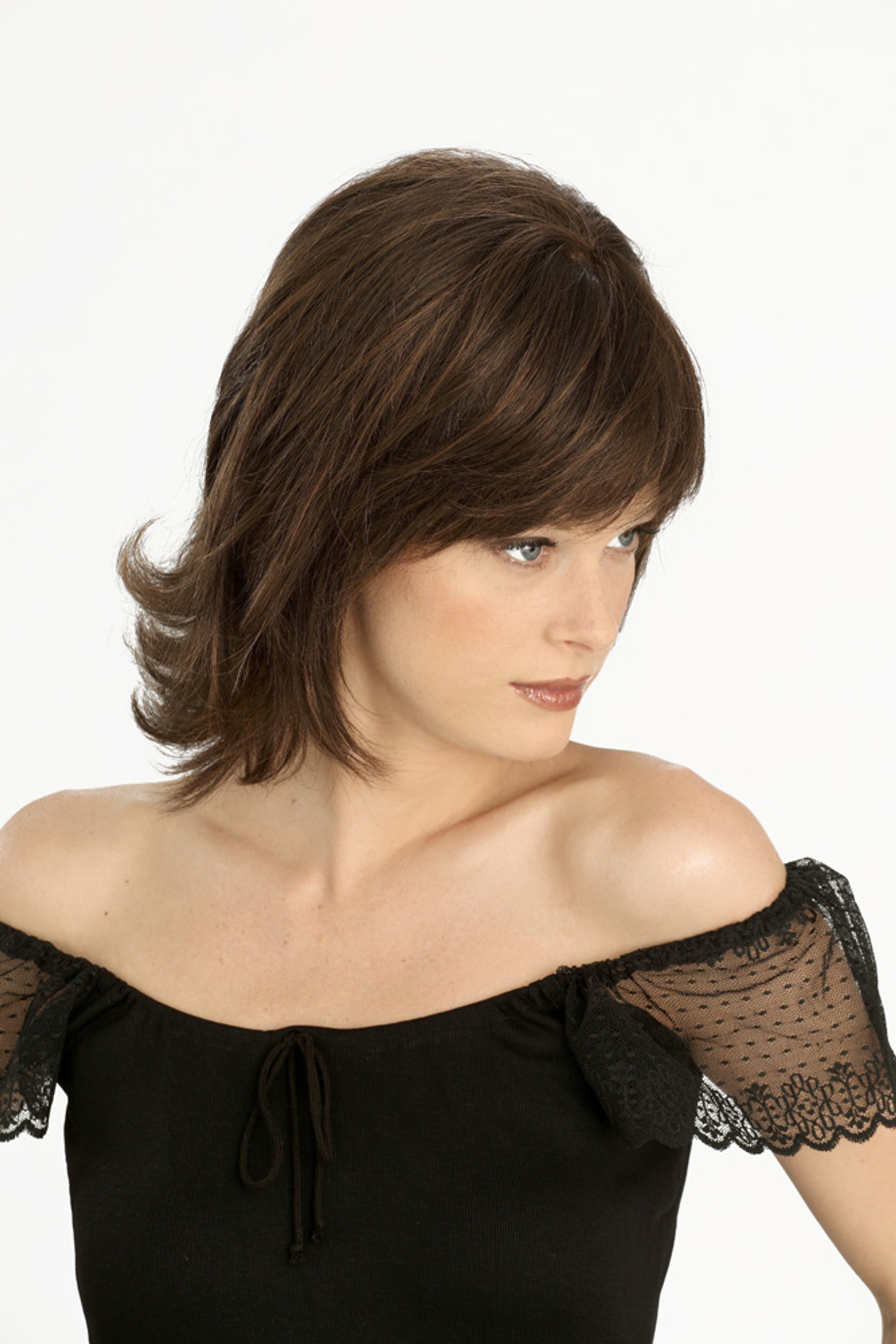 Louis Ferre Broadway Gala  Monosystem Lace Front Wig side view