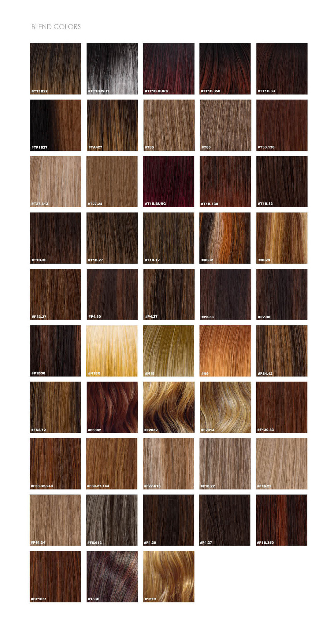 Sepia Color chart