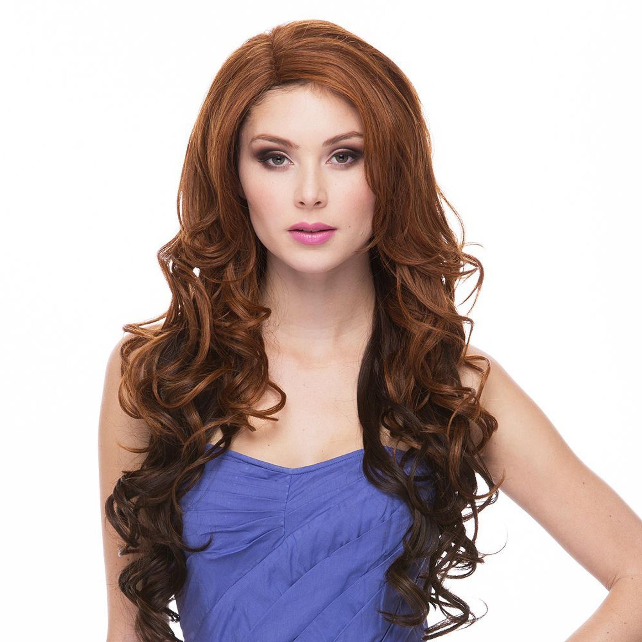 Sasha Sepia Wigs Front View