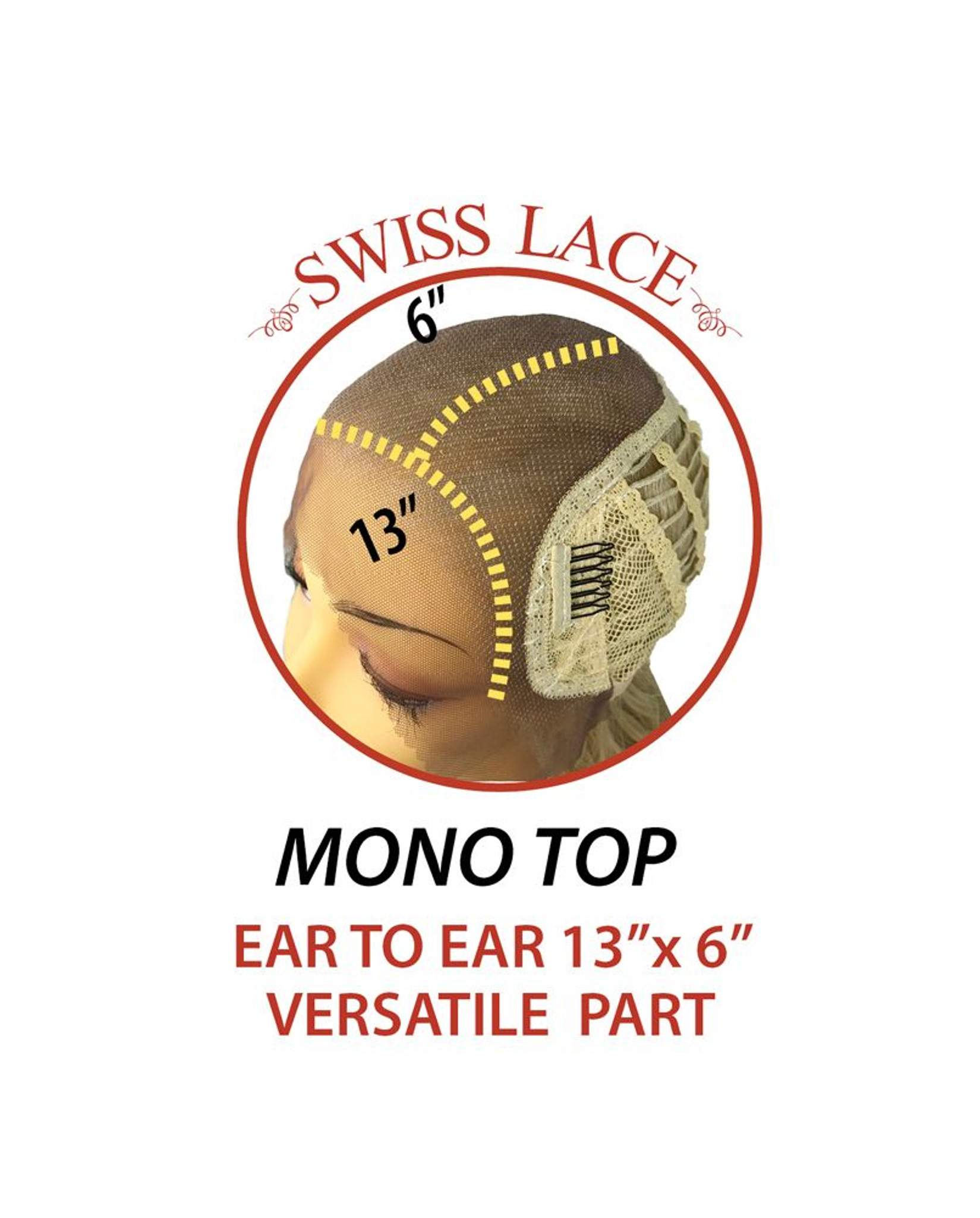 Aubrey Sepia Lace Front Monotop  cap  view