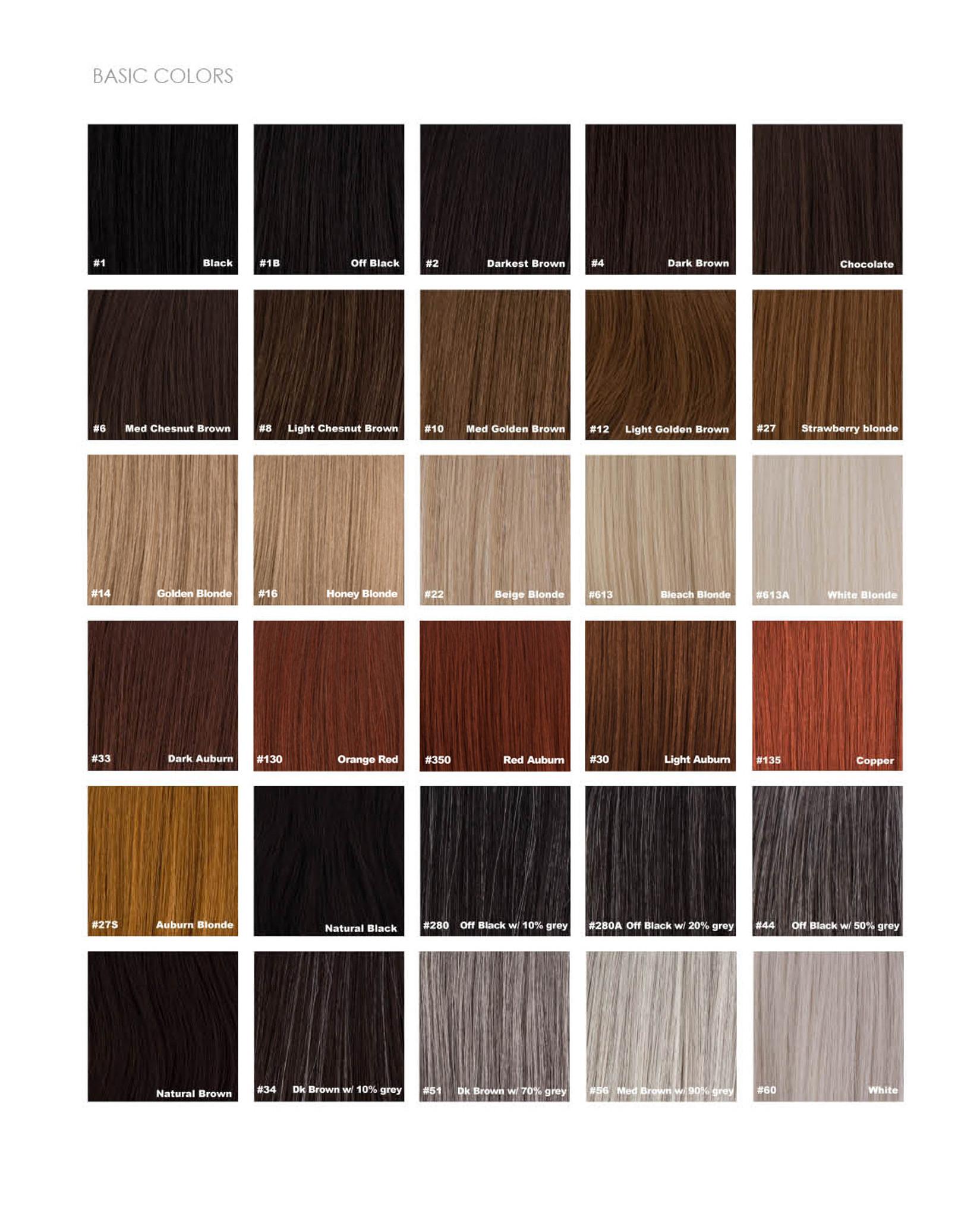 Sepia Color Chart