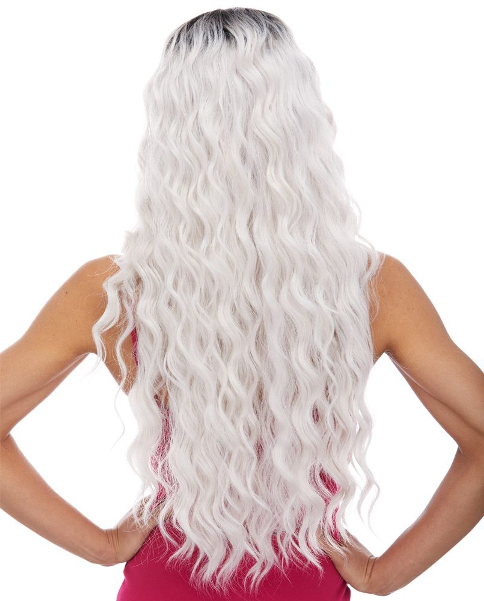 Celestial | Sepia Wigs | Lace Front back view