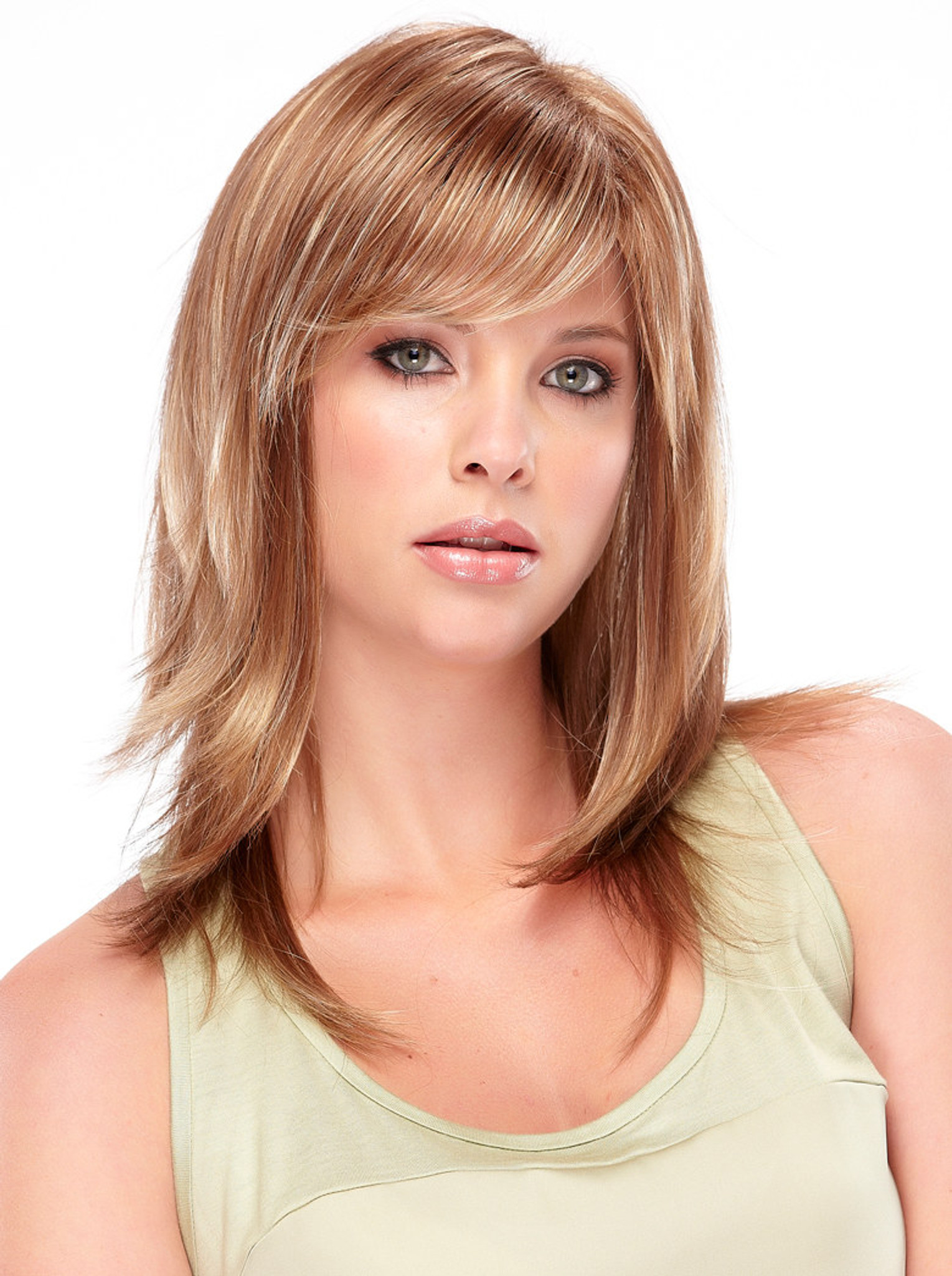 Angelique Synthetic Wig By Jon Renau front View 2