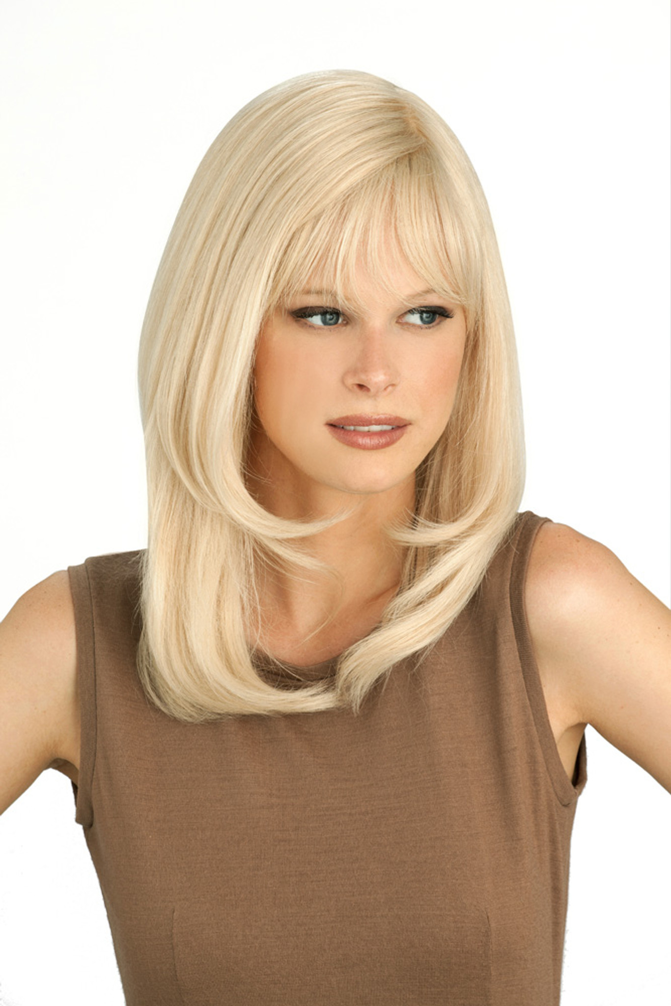 Louis Ferre PC106 Platinum Human Hair Wig front 2