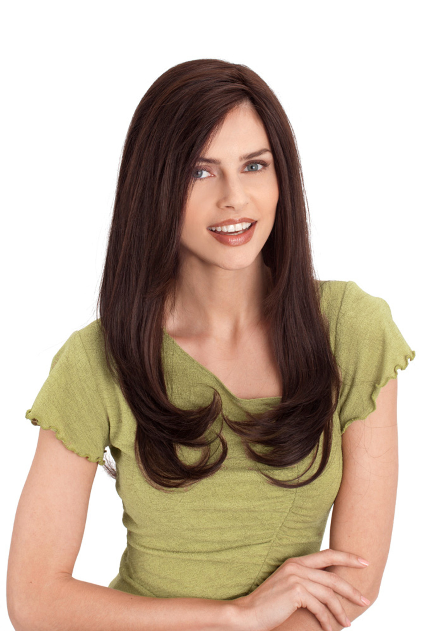 Louis Ferre Diamond  Monotop Human Hair Wig Front View