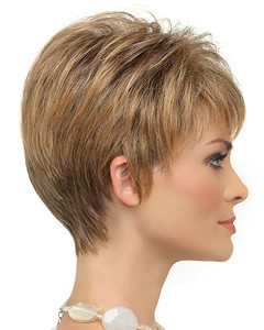 Petite Tiffany Mono Synthetic Hair by Envy Wigs Side View