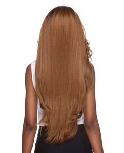 Cameron | Sepia | Lace Front  4 X 4 Parting back view