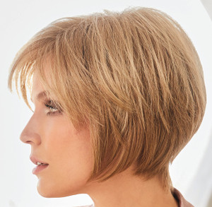 Audrey synthetic wig by Rene of Paris side view 4