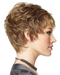 gabor synthetic wig upper cut point  side  view