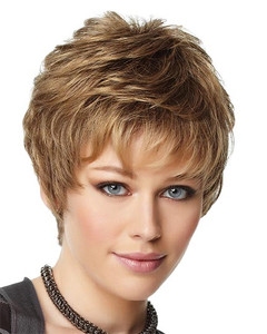 gabor synthetic wig upper cut point  front  view