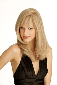 Louis Ferre Amber  Monotop Human Hair Wig side view