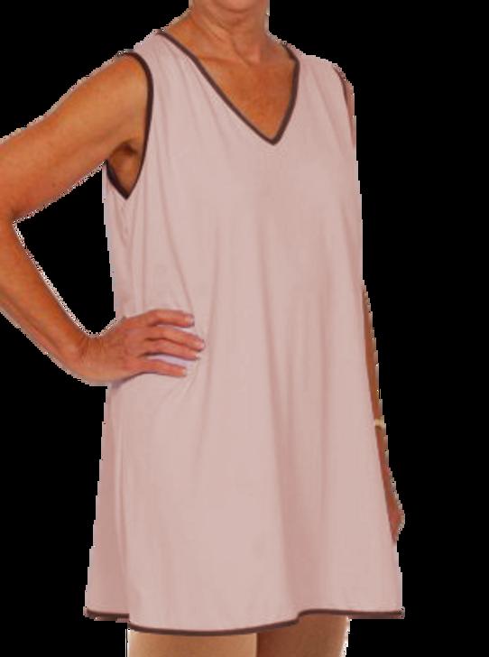 Sleeveless V-Neck Gown - Pink