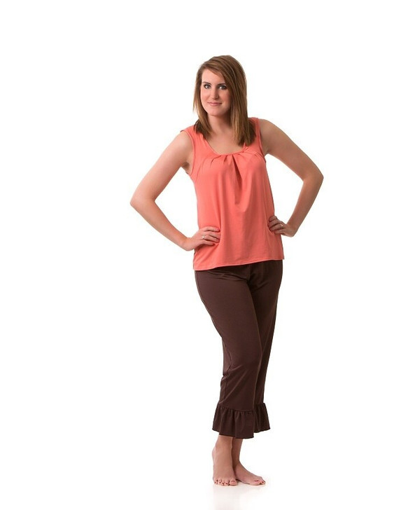 Ankle Length Pant with Ruffle Bottom