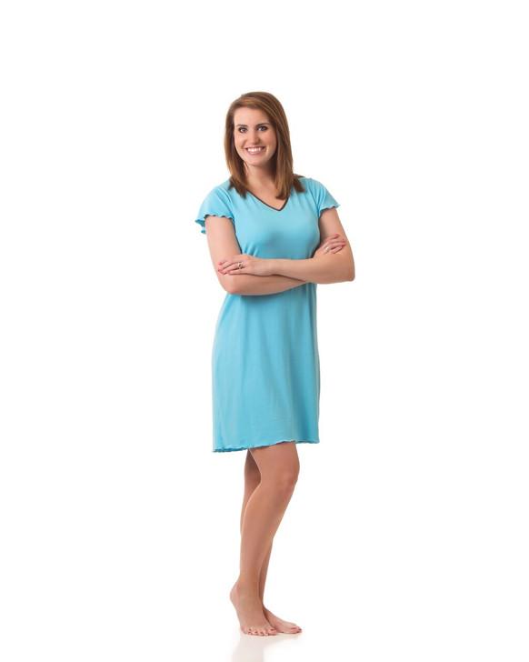Flutter Sleeve, Knee Length Gown
