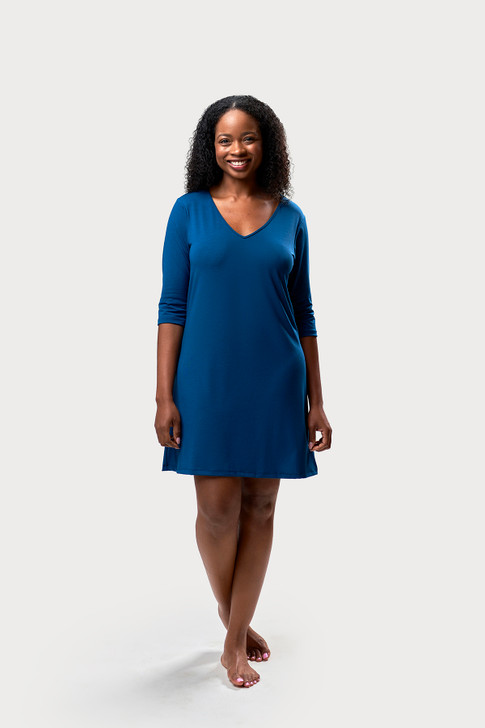 3/4 Sleeve Knee Length Nightgown