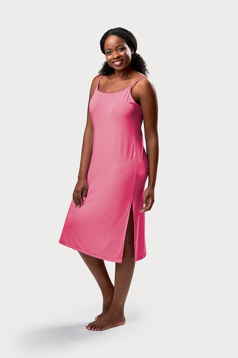 Long Cami Style Nightgown - Pink