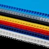IRREGULAR  4mm Corrugated plastic sheets :20 x 20 :10 Pack 100% Neon Green