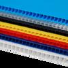 IRREGULAR  4mm Corrugated plastic sheets :24 x 24 :10 Pack 100% Virgin Black