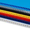 IRREGULAR  4mm Corrugated plastic sheets :24 x 24 :10 Pack 100% Neon Blue