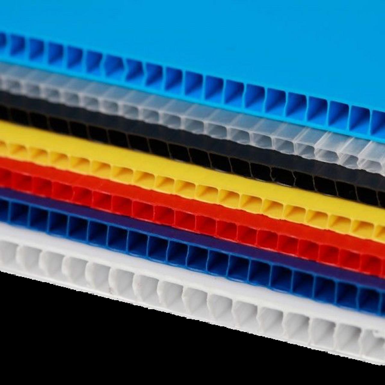47d8a1a1ee2 IRREGULAR 4mm Corrugated plastic sheets  36x 36  10 Pack 100%Virgin Black