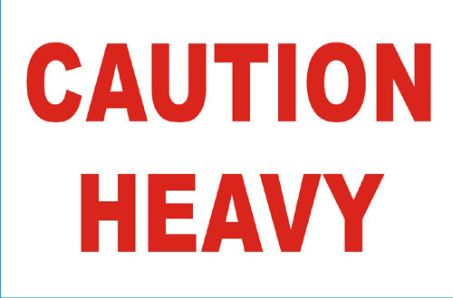 "2 x 3"" Shipping Labels - ""Caution Heavy"""