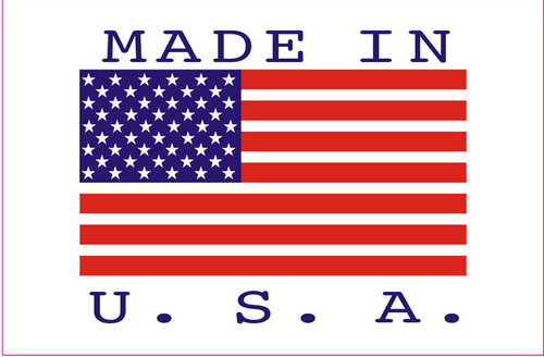 """2 x 3"""" Shipping Labels - """"Made In USA"""""""