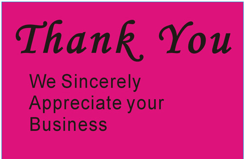 """2 x 3"""" Shipping Labels - """"Thank You"""""""