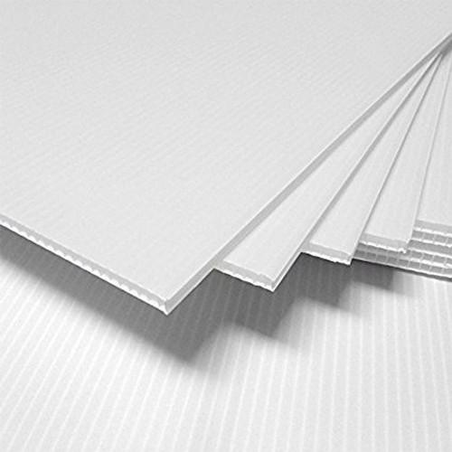 4mm Corrugated plastic sheets : 12 x 18 : 100% Virgin White Pad : Single pc