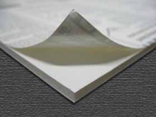 "3/16"" White 1 Side Self Adhesive Foam Core Boards  :8.5 X 11"