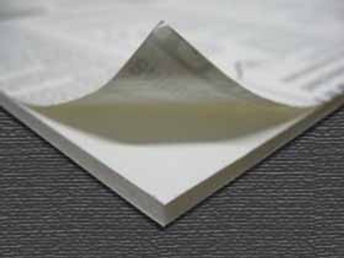 "3/16"" White 1 Side Self Adhesive Foam Core Boards : 36 x 48"