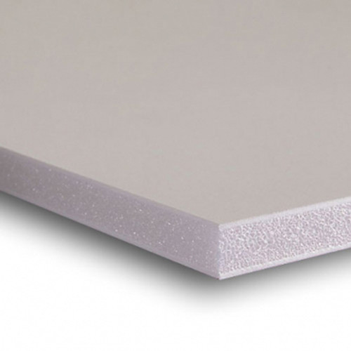"3/8""  White Acid Free Buffered Foam Core Boards  : 48 X 48"