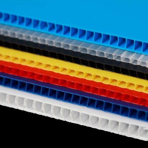 IRREGULAR  4mm Corrugated plastic sheets :24 x48:10 Pack 100% Virgin Black