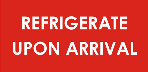 """2 x 4"""" Shipping Labels - """"Refrigerate On Arrival"""""""