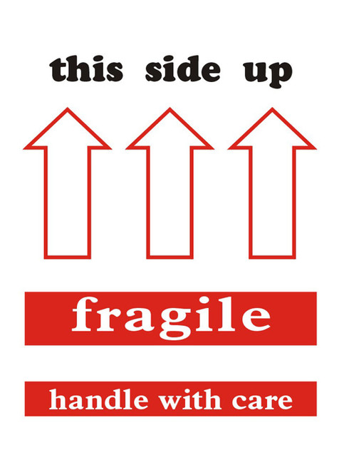 "3 x 4"" Shipping Labels - ""This Side Up-Fragile"""