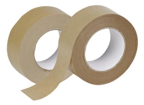 "3"" x 400' Non-Reinforced Kraft Paper Tape: Box of 12"