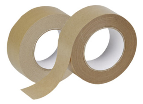 "3"" x 400' Non-Reinforced Kraft Paper Tape: Single Piece"