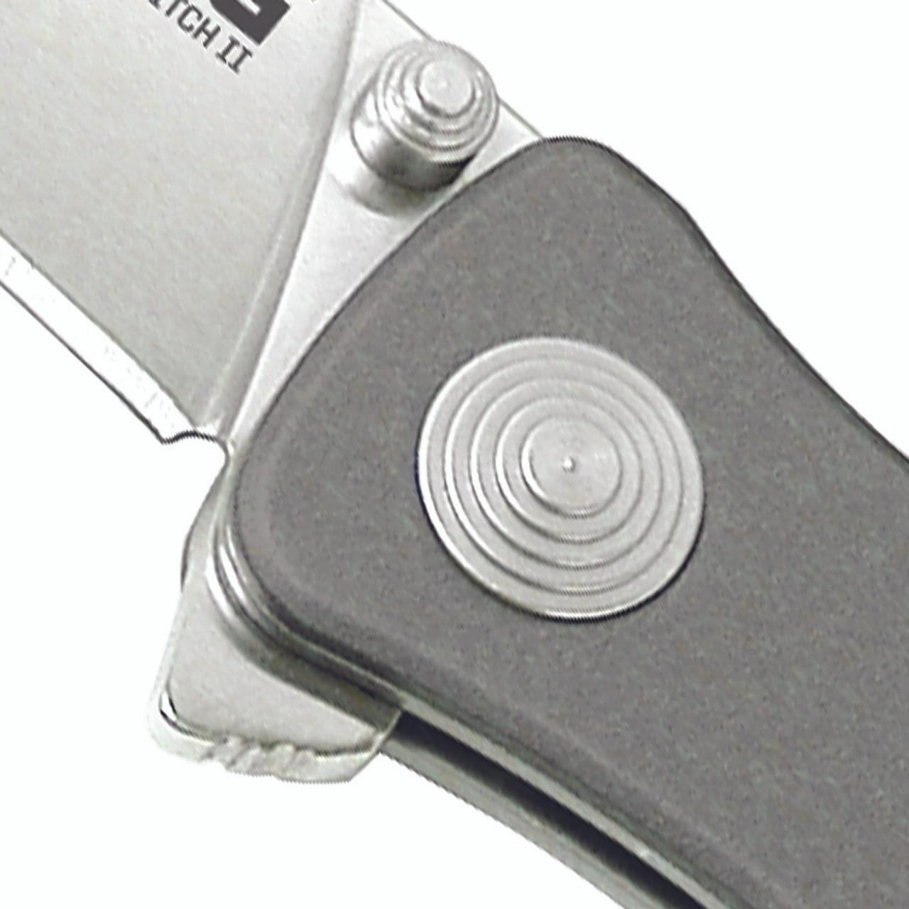 Twitch II-Drop Point, Satin, Aluminum Handle