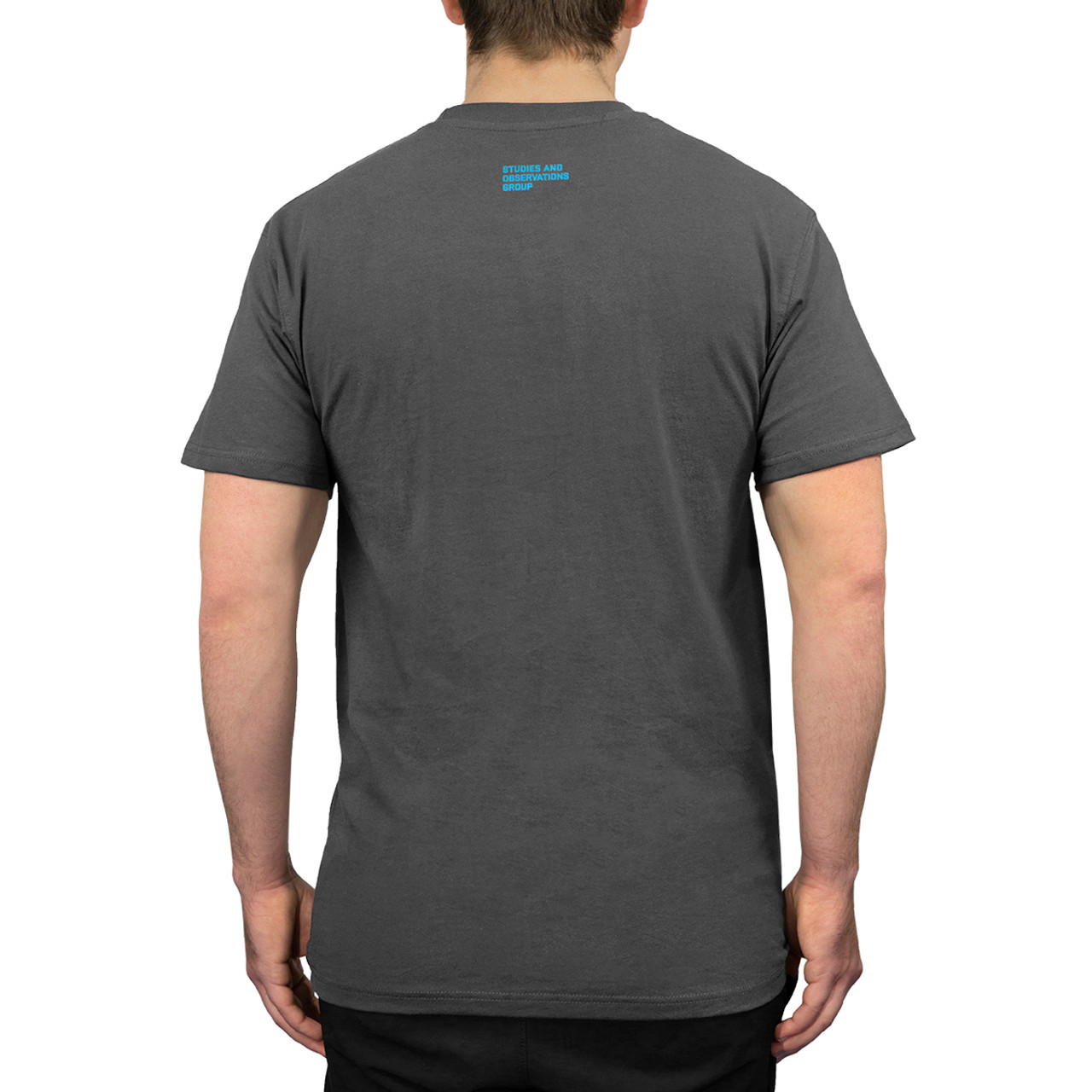 SOG T-Shirt - Dark Grey with Blue Logo