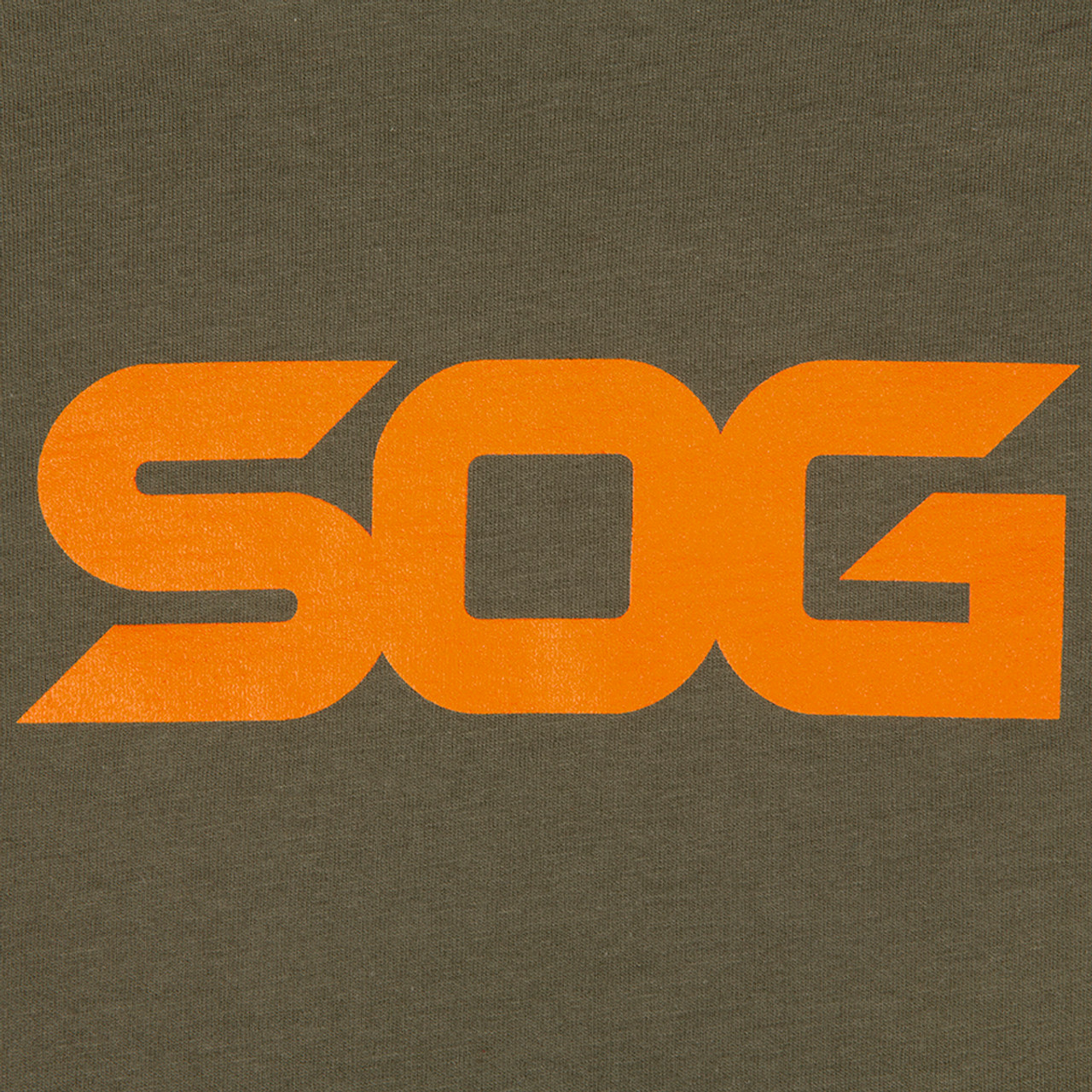 SOG T-Shirt - Green with Orange Logo