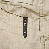 Trident - Clip Point, Black, Serrated