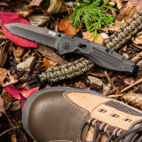 Aegis - Tanto, Black, Serrated