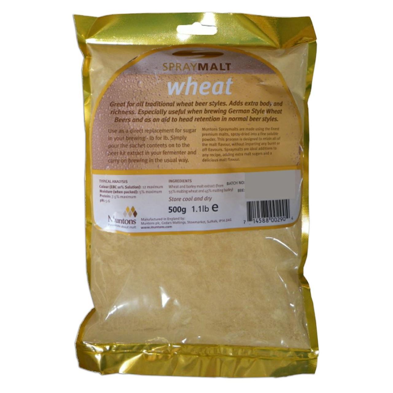 Muntons Spraymalt WHEAT 500g 100% Malt Extract Home Brew Beer Improver