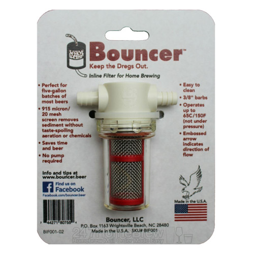 Bouncer Inline Beer Filter 3/8 barbs