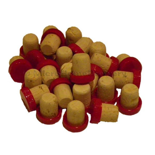 Plastic Top Corks 10pk RED