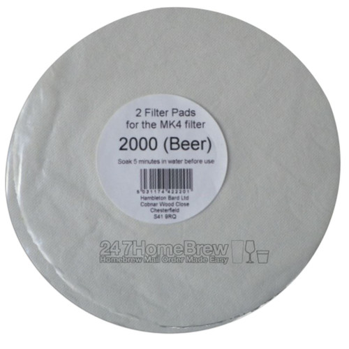Better Brew MK4 Filter Pads 2000 Beer 2Pk