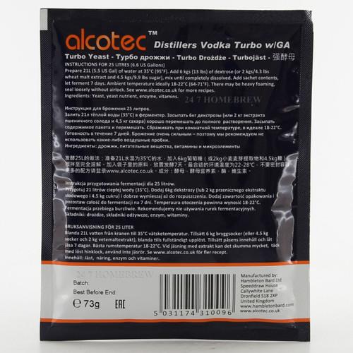Alcotec Distillers Yeast Vodka with Glucoamylase 25L
